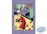 Affiche Sérigraphie, Spirou et Fantasio : Fantasio malade