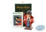Statuette résine, Peter Pan : Buste Crochet - polychrome