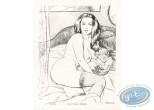 Lithographie, Pin-Up : Femme au lit