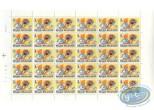 Timbre, Tintin : Planche de 30 timbres, Tintin
