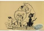 Carte postale, Les étoiles du cirque - Dressage des animaux