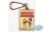 Porte-clé métal, Mickey Mouse : Mickey Mouse in Steamboat Willie, Disney