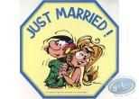 Autocollant, Gaston Lagaffe : Just married!