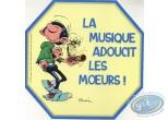 Autocollant, Gaston Lagaffe : La musique adoucit les moeurs