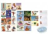 Carte postale, Spirou et Fantasio : Lot de 24 cartes + 24 enveloppes