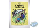 Affiche Sérigraphie, Tintin : L'affaire Tournesol