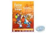 Affiche Offset, Affiche publicitaire 'La Foire d'Octobre de Liège' par Walthéry