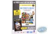 Affiche Offset, Vieux Bleu (Le) : Affiche publicitaire 'Le vieux bleu, La bande dessinée colombophile' par Walthéry et Cauvin'