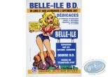 Affiche Offset, Affiche publicitaire 'Belle-Ile B.D 2007' par Walthéry (Grand format)