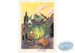 Ex-libris Offset, Angèle et René : Monstre vert