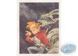 Affiche Offset, Spirou et Fantasio : The ManwWho didn't want to Die (signed)