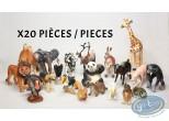 Figurine plastique, Animaux : Lot de 20 animaux