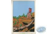 Ex-libris Sérigraphie, Ailes du Phaéton (Les) : Sur la colline