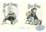Ex-libris Sérigraphie, Fanfoué : Jour blanc, Piste noire