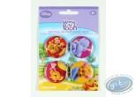 Pin's, Winnie l'Ourson : 4 badges Winnie l'Ourson et ses amis, Disney (2è version)
