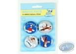 Pin's, Snoopy : 4 badges Snoopy dans la nature - fleurs