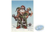 Ex-libris Offset, Noël : Père Noël culturiste
