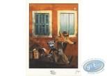 Ex-libris Offset, Fontaine aux Fables (La) : Le Chat et le Renard