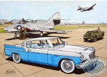 Aquarelle, Buck Danny : Studebaker 57 bleue