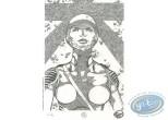 Ex-libris Offset, Far Albion : Buste de femme