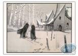Ex-libris Offset, Nicolas Eymerich : Marchant dans la neige