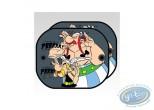 Accessoire auto, Astérix : 2 Pare-Soleil latéraux, Asterix et Obelix : 'Prrrrr'