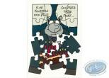 Carte postale, Chat (Le) : Anniversaire - 'Il ne faut pas non plus souffler trop fort...'