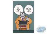Carte postale, Chat (Le) : Anniversaire - 'Plus on prend de l'âge et plus vite la soupe est chaude'