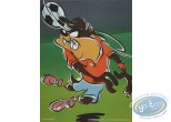 Affiche Offset, Taz : Taz footballeur 30X40 cm