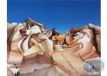 Affiche Offset, Looney Tunes (Les) : Les présidents 50X40 cm