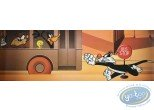 Affiche Offset, Looney Tunes (Les) : Le bus Looney 90X30 cm