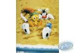 Affiche Offset, Titi : Titi à la plage 40X50 cm