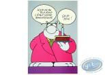 Carte postale, Chat (Le) : Anniversaire - 'Il y a un an tout rond, c'était votre anniversaire'. Carte XL