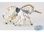 Figurine plastique, Cheval de Maître des Armes Cimier Licorne