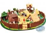 Figurine métal, Astérix : Mini village the whole village (signed), Pixi