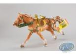 Figurine plastique,  : Cheval beige au galop