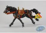 Figurine plastique,  : Cheval noir au galop