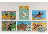 Carte postale, Tintin : Carte Q8, Assortiment de 6 cartes Tintin