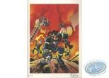 Ex-libris Offset, Pompiers (Les) : Au feu