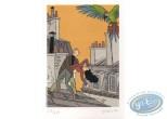 Ex-libris Offset, Perroquet des Batignoles (Le) : Stanislas, Sur le toit