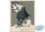 Ex-libris Sérigraphie, Prince des Ecureuils (Le) : Pleine Lune