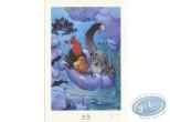 Ex-libris Offset, Toto l'Ornithorynque : Sur un nuage