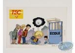Carte postale, Cédric : Carte postale publicitaire, Cédric sur le chemin de l'école