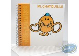 Carnet de notes, Monsieur et Madame : Carnet Spirales,  Mr Chatouille : Orange