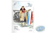 Aquarelle, Dan Cooper : Dan Cooper Holding a Plane (beige jacket)
