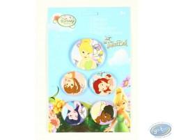 5 badges la Fée Clochette et ses amies, Disney