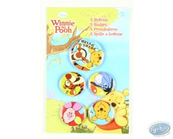 5 badges Winnie et ses amis, Disney