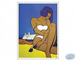 Femme à Antibes