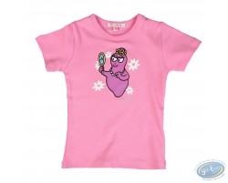 T-shirt manches courtes lilas Barbapapa pour enfant : taille 92/98, miroir