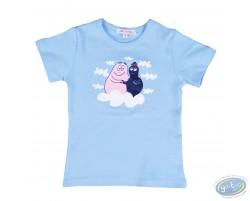 T-shirt manches courtes bleu Barbapapa pour enfant : taille 92/98, papa et maman